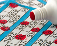 Bingo numbers wordsearch
