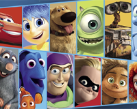Disney Pixar movies wordsearch